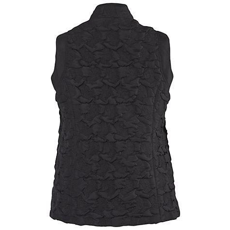 Buy Chesca Quilted Zipped Gilet, Black Online at johnlewis.com