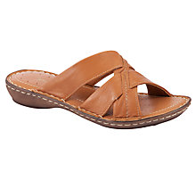 Buy John Lewis Finchley Leather Sandals, Tan Online at johnlewis.com