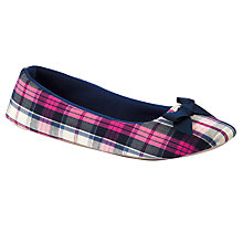 Buy John Lewis Twirl Slippers, Pink / Navy Online at johnlewis.com