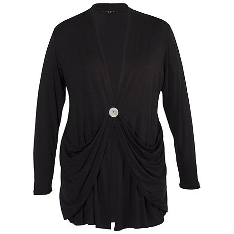 Buy Chesca Draped Cardigan, Black Online at johnlewis.com