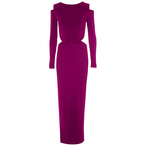 Buy True Decadence Mid Twist Cut-Out Dress, Pink Online at johnlewis.com