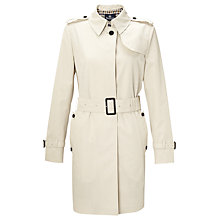 Buy Aquascutum Franca Single Breasted Raincoat, Light Beige Online at johnlewis.com