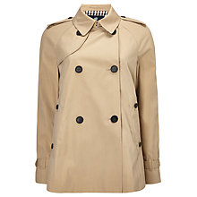 Buy Aquascutum Double Breasted Raincoat, Beige Online at johnlewis.com