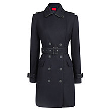 Buy Mango Wool Blend Coat, Dark Blue Online at johnlewis.com