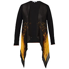 Buy Chesca Volcano Border Cardigan, Amber Online at johnlewis.com