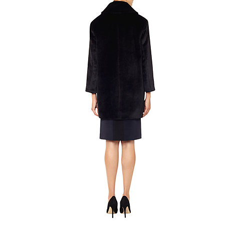 Buy Aquascutum Shawl Collar Coat, Black Online at johnlewis.com