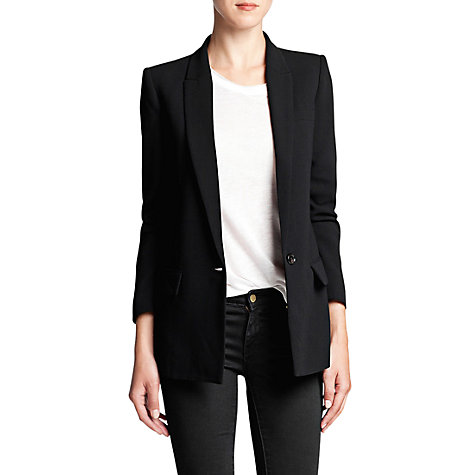 Buy Mango Crepe Suit Blazer, Black Online at johnlewis.com