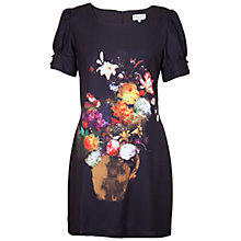 Buy Whistle & Wolf Painted Floral Dress, Black Online at johnlewis.com