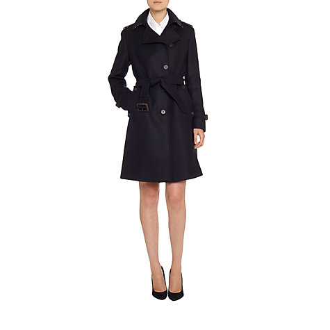 Buy Aquascutum Trench Coat, Navy Online at johnlewis.com