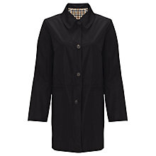 Buy Aquascutum Single Breasted Reversible Raincoat, Black Online at johnlewis.com