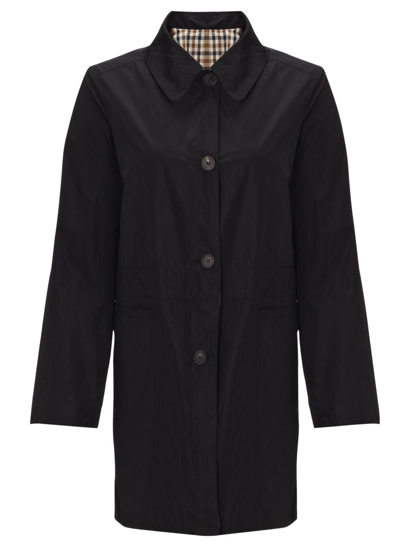 Aquascutum Single Breasted Reversible Raincoat, Black