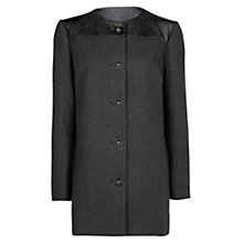 Buy Mango Quilted Wool Blend Coat Online at johnlewis.com
