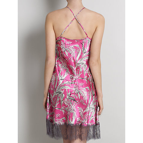 Buy Somerset by Alice Temperley Chinoiserie Short Chemise, Pink / Multi Online at johnlewis.com