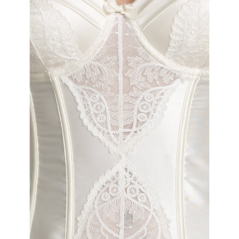 Buy Somerset by Alice Temperley Gatsby Bridal Basque and Suspenders, Ivory Online at johnlewis.com
