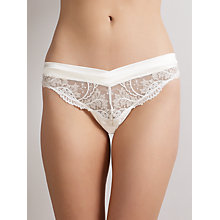Buy Somerset by Alice Temperley Gatsby Bridal Thong, Ivory Online at johnlewis.com