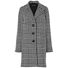 Buy Jaeger Giant Houndstooth Cocoon Coat, Black / White Online at johnlewis.com