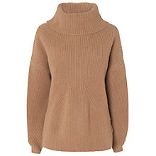 Buy Jaeger Merino Rib Jumper, Camel Online at johnlewis.com