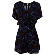 Buy Warehouse Wild Floral Playsuit, Multi Online at johnlewis.com