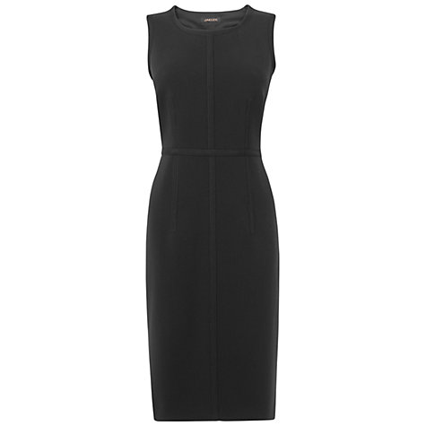Buy Jaeger Grosgrain Trim Shift Dress, Black Online at johnlewis.com