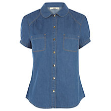 Buy Oasis Lizzy Denim Shirt, Denim Online at johnlewis.com