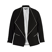 Buy Chesca Contrast Piping Trim Jacket, Black Online at johnlewis.com