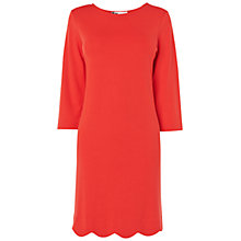 Buy Boutique by Jaeger Scalloped Hem Dress, Red Online at johnlewis.com