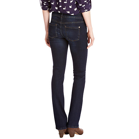 Buy Oasis Eva Slim Bootcut Jeans, Denim Online at johnlewis.com