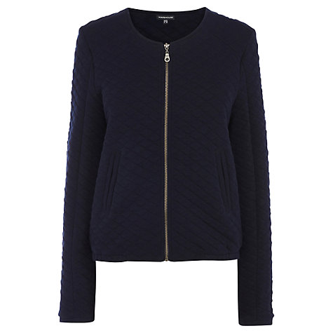 Buy Warehouse Quilted Bomber Jacket, Navy Online at johnlewis.com