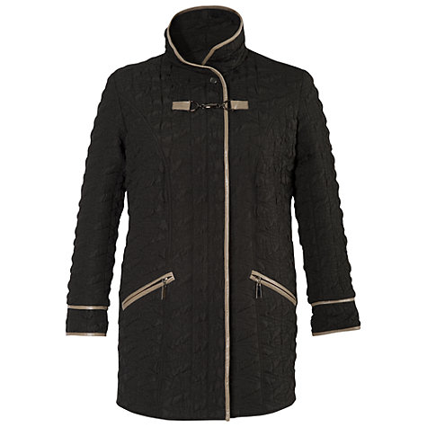 Buy Chesca Contrast Piping Quilted Coat Online at johnlewis.com