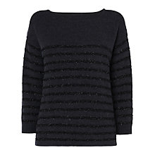 Buy Jaeger Glitter Stripe Jumper Online at johnlewis.com