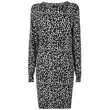 Buy Jaeger Cheetah Sweater Dress, Charcoal Online at johnlewis.com