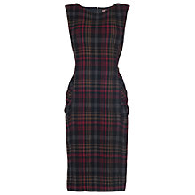 Buy Phase Eight Michelle Tartan Dress, Black/Multi Online at johnlewis.com