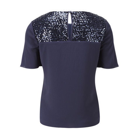 Buy Viyella Ella Sequin Blouse, Sapphire Online at johnlewis.com