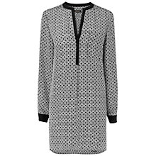 Buy Jaeger Geometric Print Tunic, Black / White Online at johnlewis.com