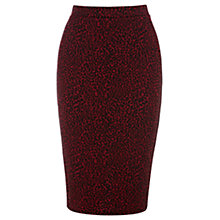 Buy Warehouse Animal Print Skirt, Red Online at johnlewis.com