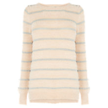 Buy Oasis Fluffy Stripe Jumper, Mid Neutral Online at johnlewis.com