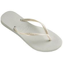 Buy Havaianas Slim Flip Flops, White Online at johnlewis.com