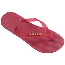 Buy Havaianas Logo Metallic Fit-Flop Online at johnlewis.com