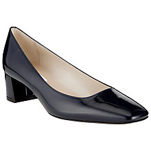 Buy COLLECTION by John Lewis Tautou Low Block Heel Patent Court Shoes, Navy Online at johnlewis.com