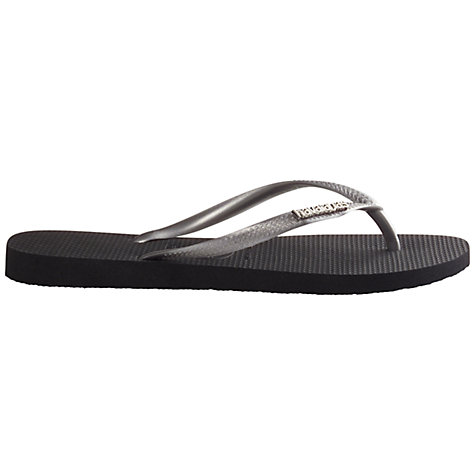 Buy Havaianas Logo Metallic Flip-Flops Online at johnlewis.com