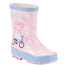 Buy Peppa Pig Bicycle Wellington Boots, Pink/Multi Online at johnlewis.com