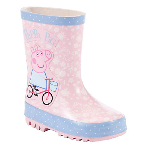 Buy Peppa Pig Bicycle Wellingtons, Pink/Multi Online at johnlewis.com