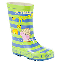 Buy George Pig Peppa Pig Jungle Wellington Boots, Green/Blue Online at johnlewis.com