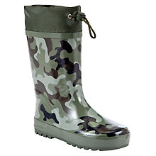 Buy John Lewis Children's Camouflage Wellies, Khaki Online at johnlewis.com