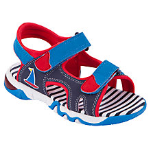 Buy John Lewis Boy Ozzie Boat Light-Up Trekker Sandals, Navy Online at johnlewis.com
