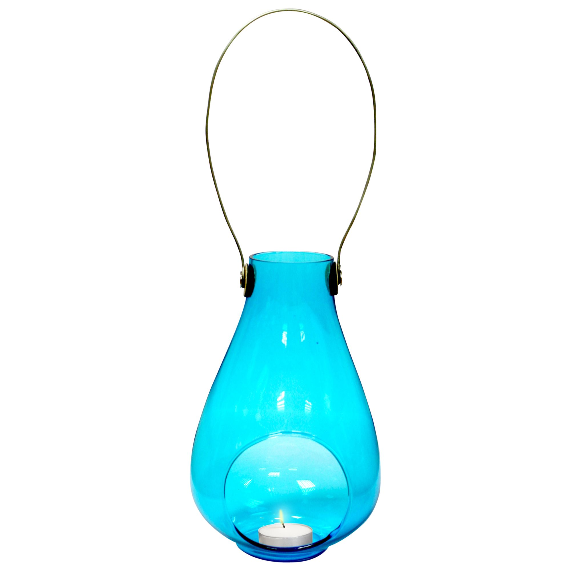 La Hacienda Raindrop Tealight Lantern, Turquoise