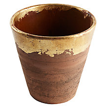 Buy Iron & Clay Rustic Terracotta Leaf Planter Online at johnlewis.com