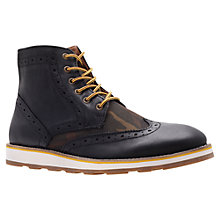 Buy KG by Kurt Geiger Howdale Lace-up Ankle Boots, Black Online at johnlewis.com