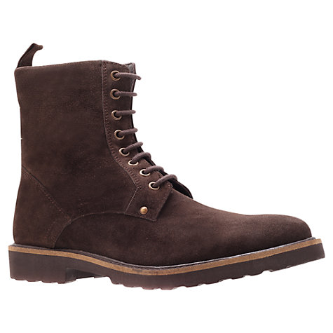 Buy KG by Kurt Geiger Dench Suede Lace Up Boots Online at johnlewis.com