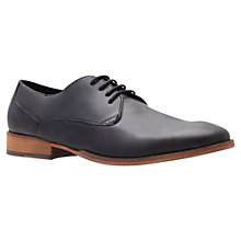 Buy KG by Kurt Geiger Preston Leather Derby Shoes, Black Online at johnlewis.com